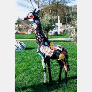 Girafe pop art 195 cm résine