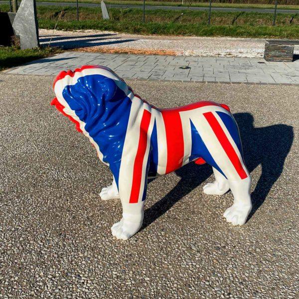 bulldog drapeau anglais résine