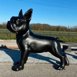 bulldog noir mat résine