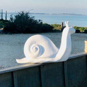 Escargot blanc résine