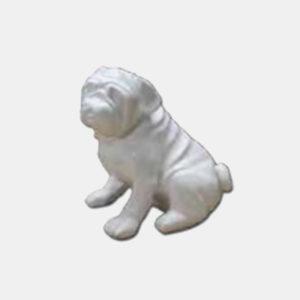 bulldog français 34 cm résine