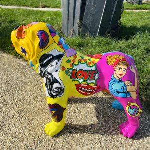 bulldog Anglais POP ART Résine