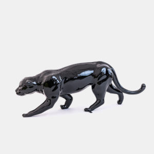 Panthère noir résine