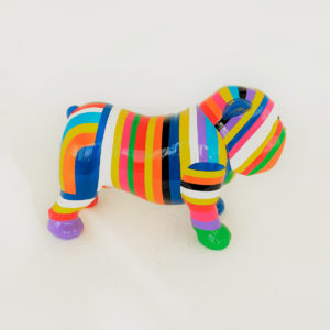 bulldog multicolor résine