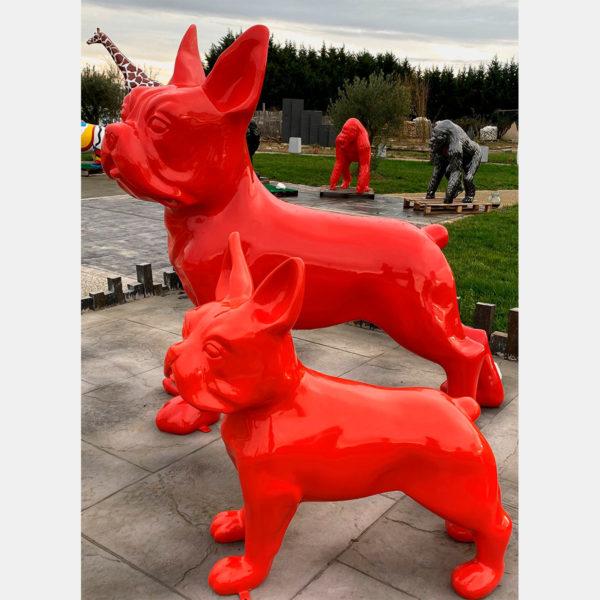 bulldog rouge résine