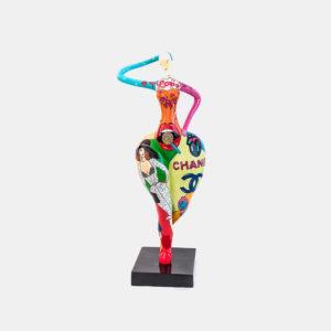 Femme pop art résine 150cm