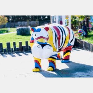 Hippo multicolor résine
