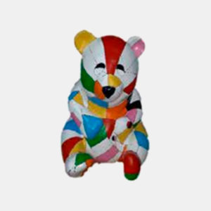 Teddy bear multicolor résine