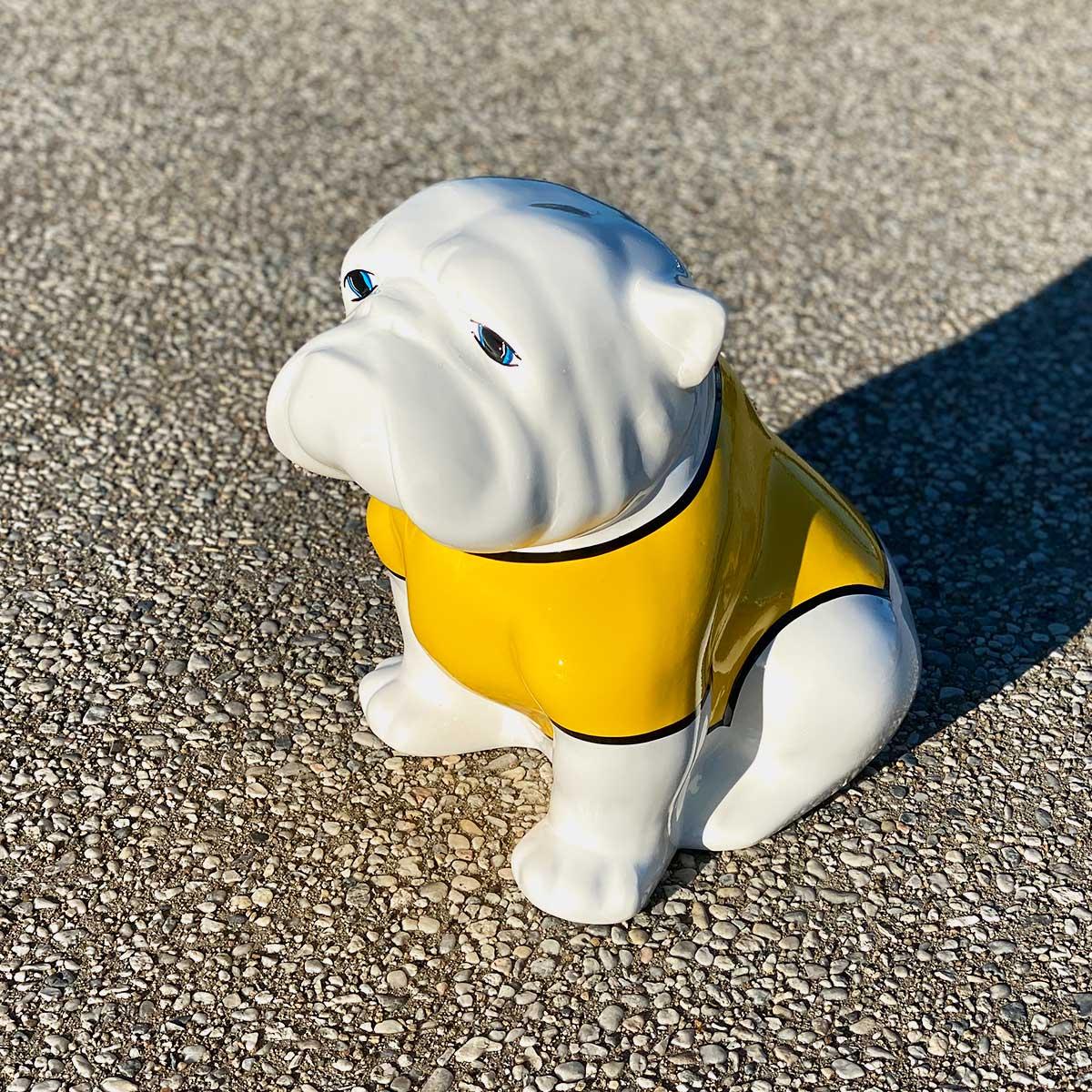 bulldog maillot jaune résine