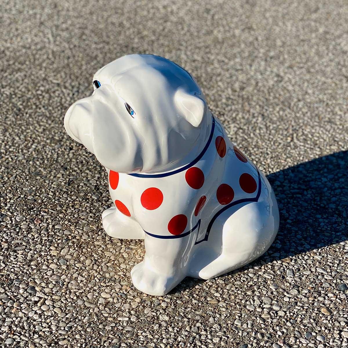 bulldog mailot petits pois résine