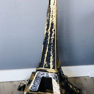 Tour Eiffel en résine coulures or