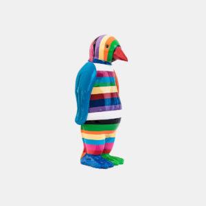 Pingouin multicolor résine